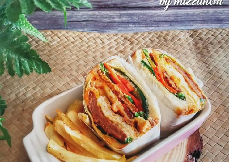 Cara Mudah Masak: Wanpaku Sando (Sandwich)  Lazat