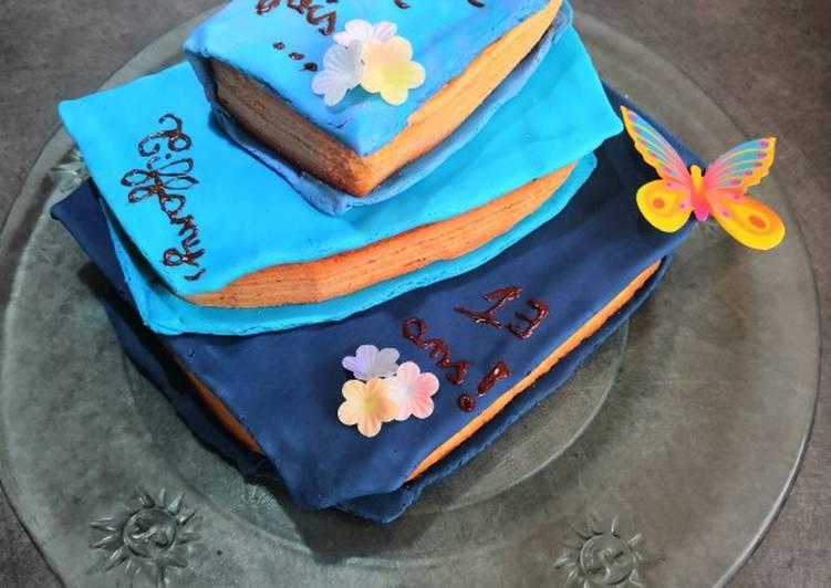 Recette Parfait Gâteau d'anniversaire sur le thème des livres