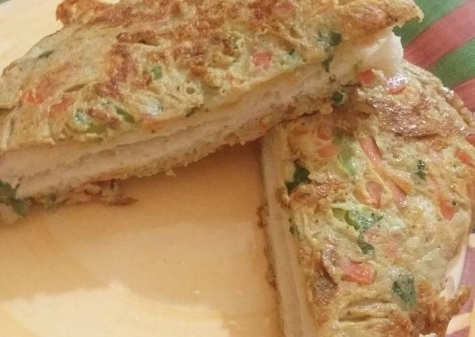 Recipe of Speedy Egg veg bread sandwich