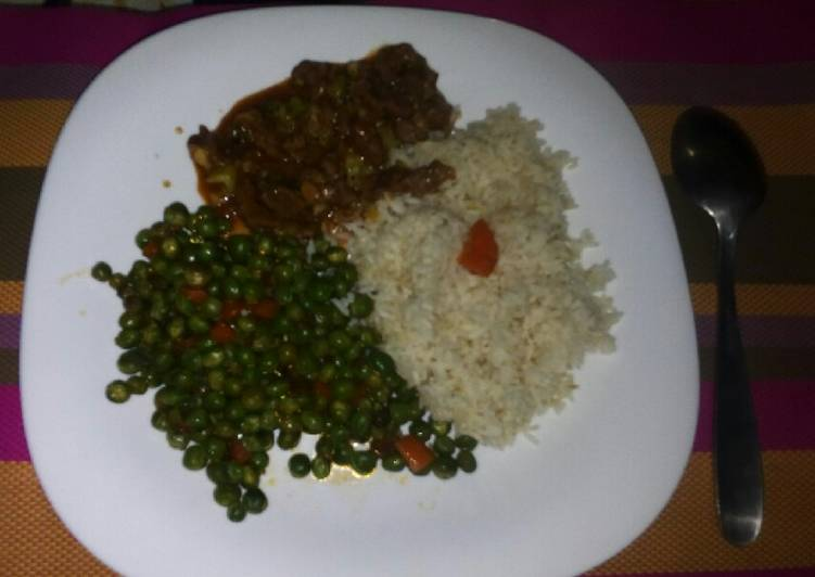 Rice, Snow peas and beef stew, Heart Friendly Foods You Should Eat