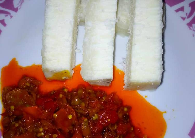 What are some Dinner Ideas Any Night Of The Week Boiled yam with sauce