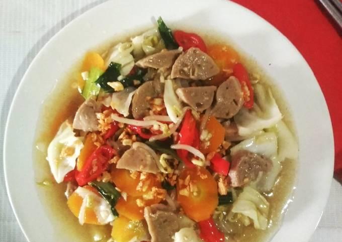 Capcay Kuah Sayuran Bakso