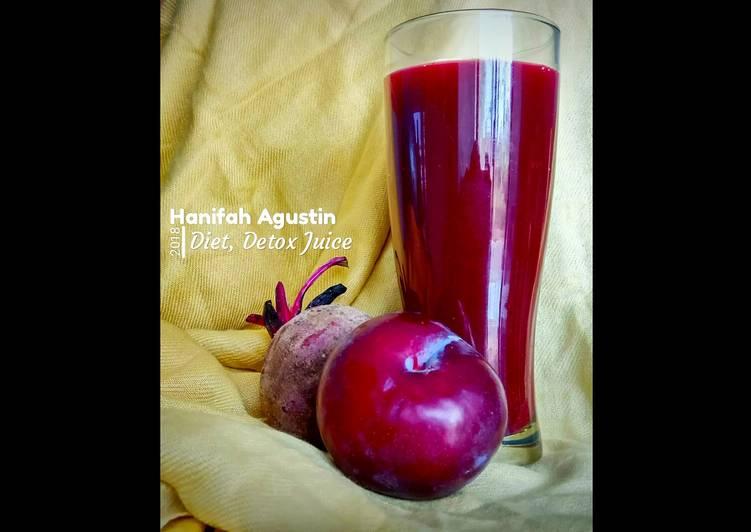58. Diet, Detox Juice plum pear brocoli beet carrot