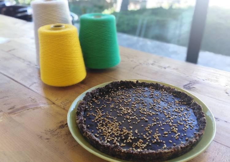 Ricetta Crostata alla ganache di cioccolato con frolla al cacao