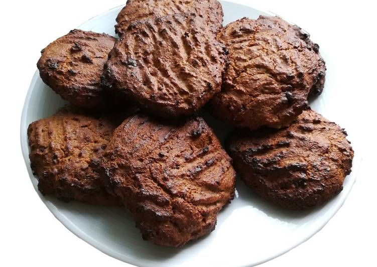Cookies XXL de avena y cacahuete