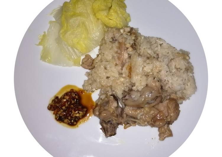 Nasi Tim ayam Singapura super enak /Hainan Rice Cooker