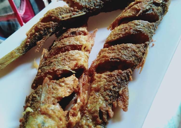 Resep Ikan goreng bumbu marinasi simple yang nikmat