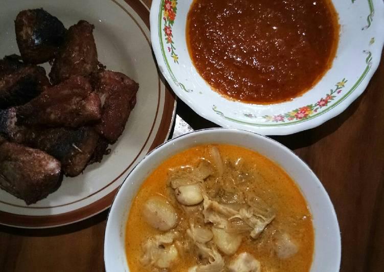 Resep Sayur santan kluwih,ikan cakalang goreng dn sambal goreng trasi Yang Populer Pasti Nagih