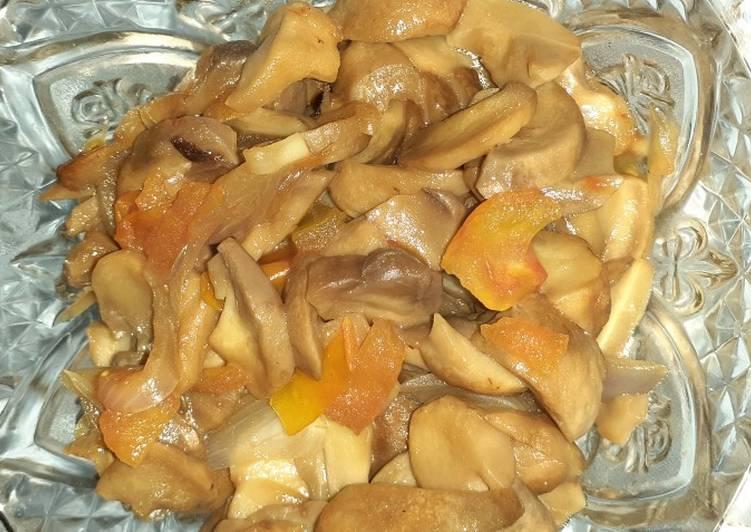 Tumis jamur kancing