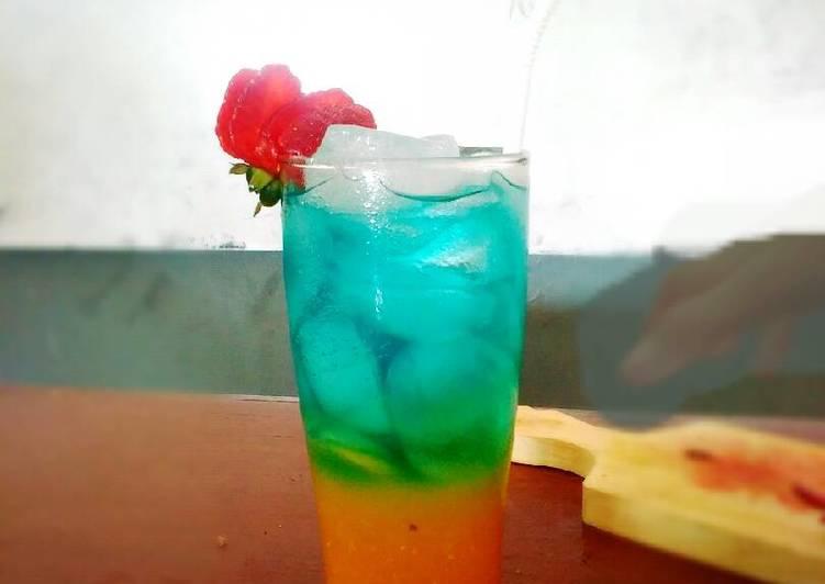 Resep Blue Sunrise Mocktail Oleh Robby Cookpad