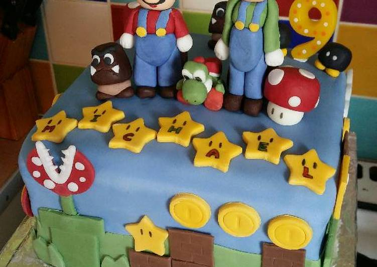 Simple Way to Make Ultimate Vickys Super Mario Cake Decoration Idea