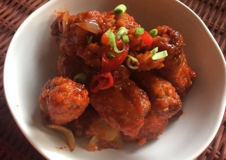 5 Resep: Korean fried chicken / yangnyeom tongdak Kekinian