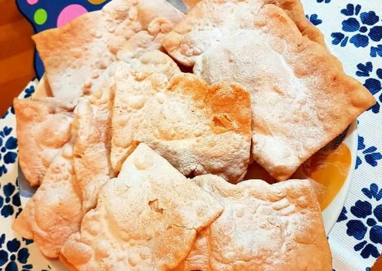 Ricetta Chiacchiere rosa senza zucchero