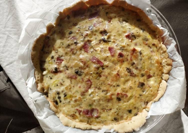 Quiche of bacon and zuccini