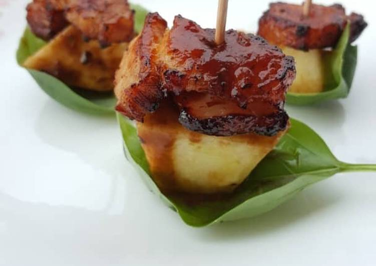 Simple Way to Make Ultimate Deep Fried Pork Belly With BBQ Sauce