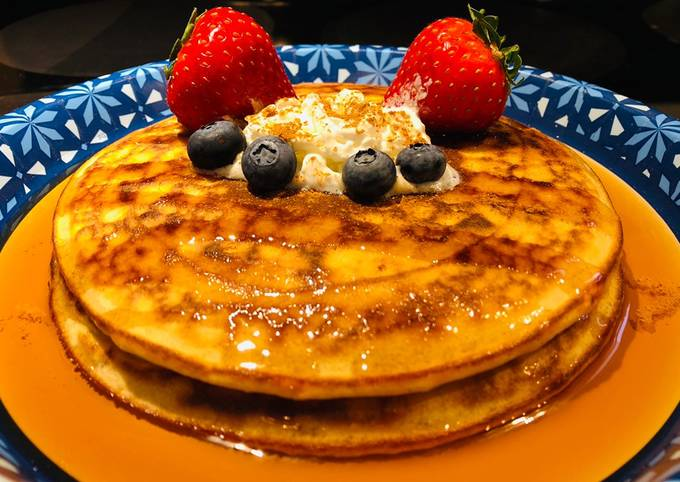 Recipe of Creamy Cheesecake Pancakes 🥞 Step by Step