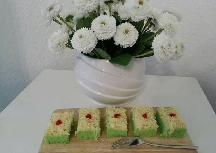 Cake potong pandan keju (ala bolu hongkong)