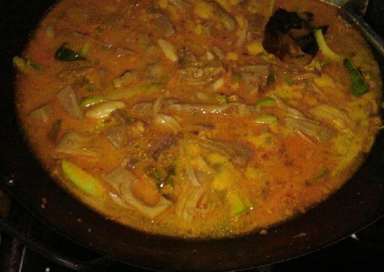 Gulai nangka daging