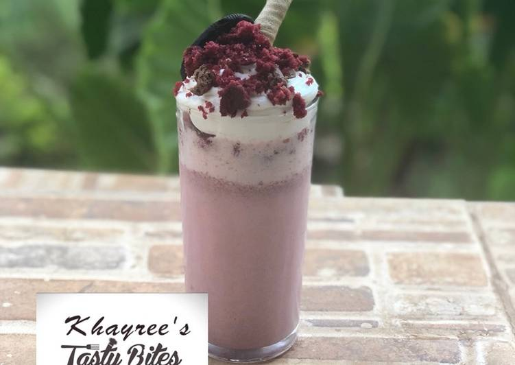 Recipe of Ultimate Red velvet milk shake