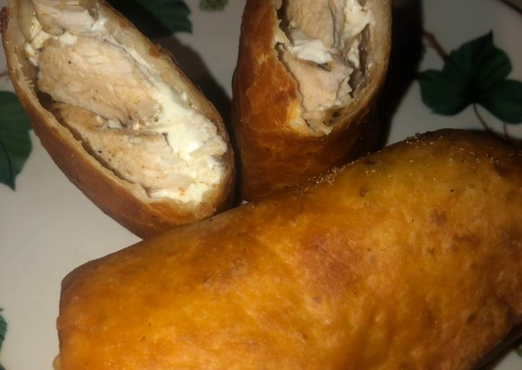 Recipe: Perfect Chicken & cream cheese taquito