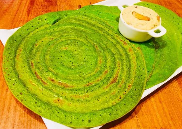 Absolutely Ultimate Dinner Easy Favorite Moong Spinach Dosa