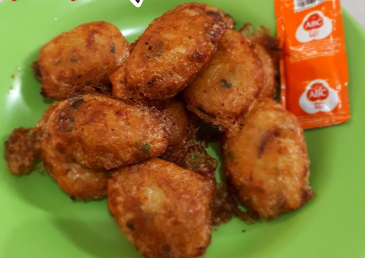 Begedel kentang goreng