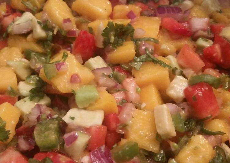 Simple Way to Prepare Perfect Strawberry-Mango Salsa