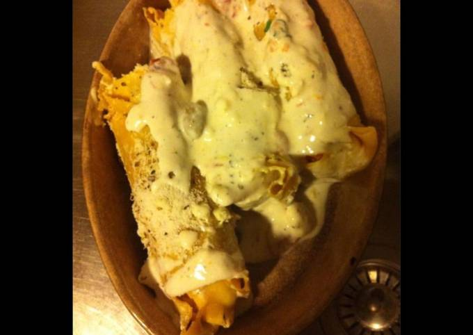 Cannellonis géants aux quatre fromages et jambon Serrano