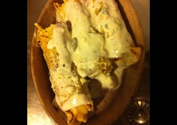 La Meilleur Recette De Cannellonis géants aux quatre fromages et jambon Serrano