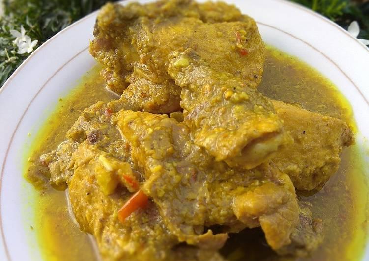 Ayam gulai kuning No santan