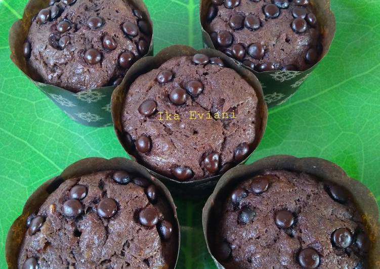 Banana Chocolate Muffin No Mixer