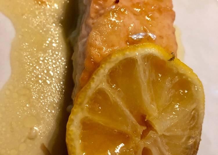 Saumon laqué au miel et au citron