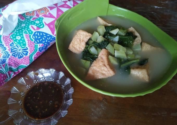 Bobor Bayam Jipang feat sambal gula merah