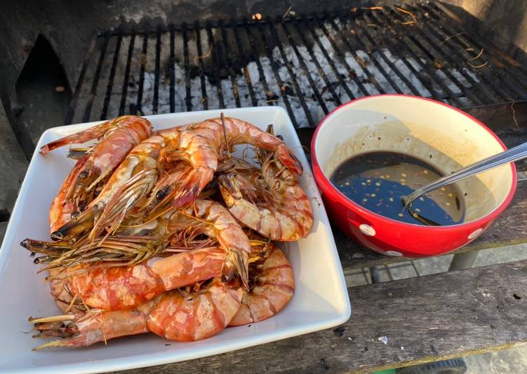 Easiest Way to Prepare Homemade BBQ King Prawns with 2 Dips