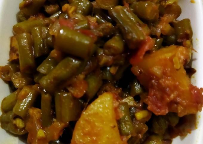 French beans aloo ki sabzi