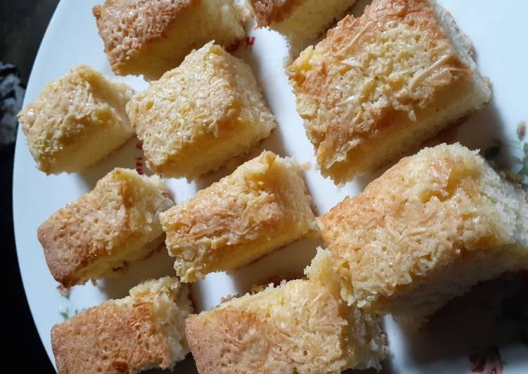 cara buat Bolu keju panggang - Sajian Dapur Bunda