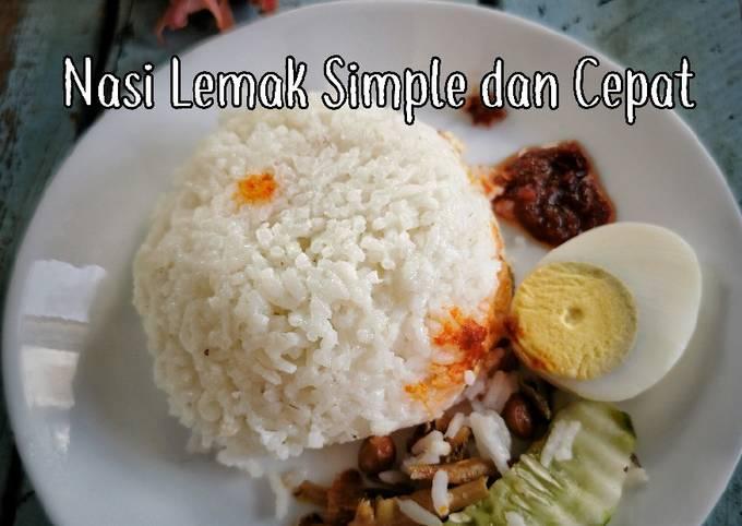 Nasi Lemak Simple & Cepat