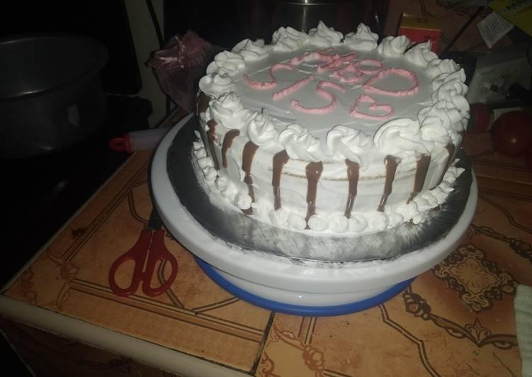 Simple Way to Prepare Quick Drip cake #cakedecoration