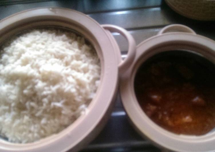 Old Fashioned Dinner Ideas Cooking White rice and potato stew