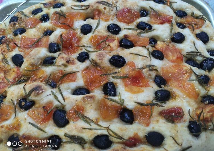 Recipe of Favorite Sour dough focaccia