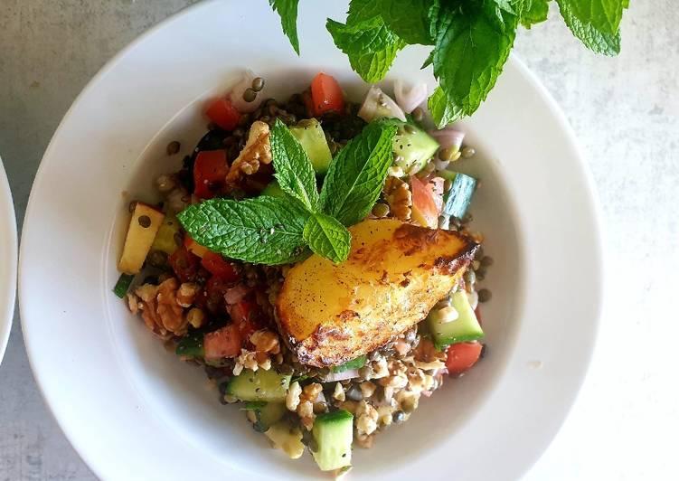 How to Prepare Tasty Spring Lentil Salad (Vegan)