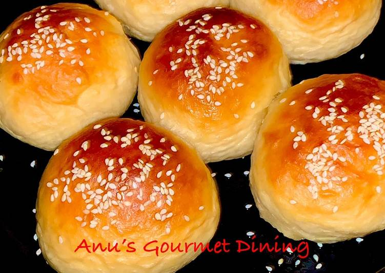 Eggless Buns using the Japanese Tangzhong Technique