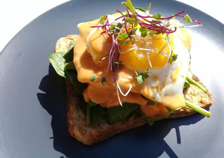 Open face sandwich breakfast