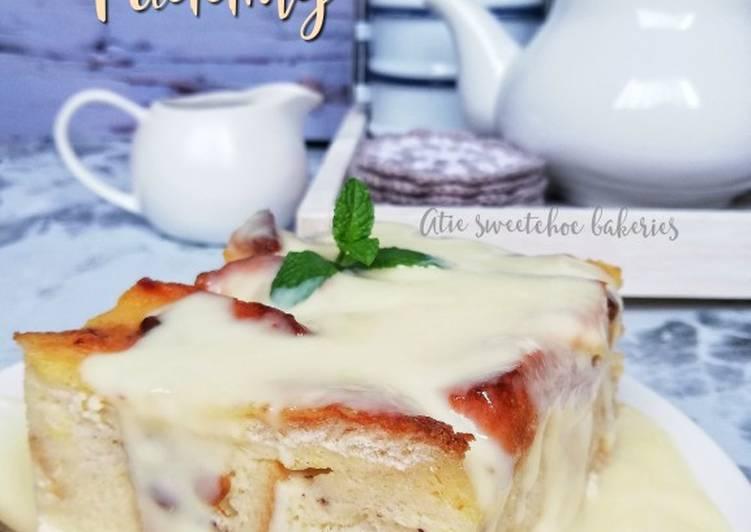 Resepi:  Bread butter pudding #manisan #maraton ramadan  Termudah