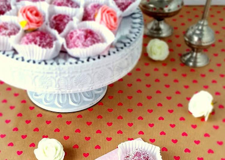 Boules coco fraise