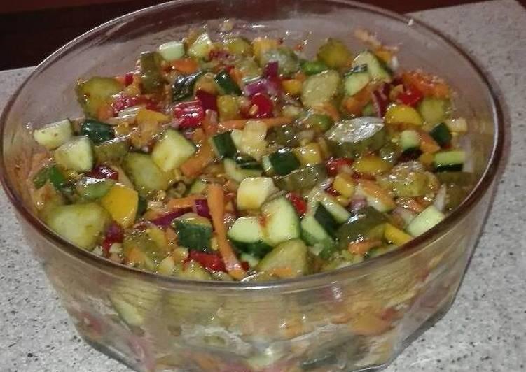 Recipe of Homemade Cucumber Gherkins salad