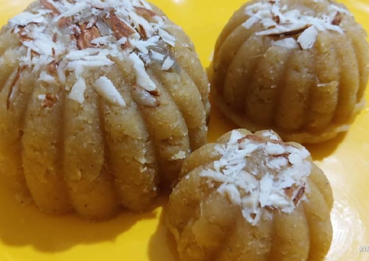 Besan Aur Badam ka delicious danedar Halwa indian dessert rec