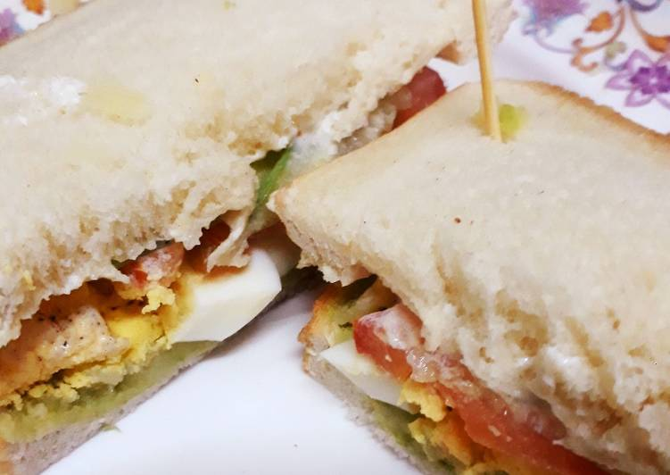 Recipe of Homemade Healthy sandwiches 😊