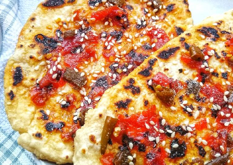 Simple Way to Prepare Any-night-of-the-week Hot & Sweet Chilli Sesame Flatbreads