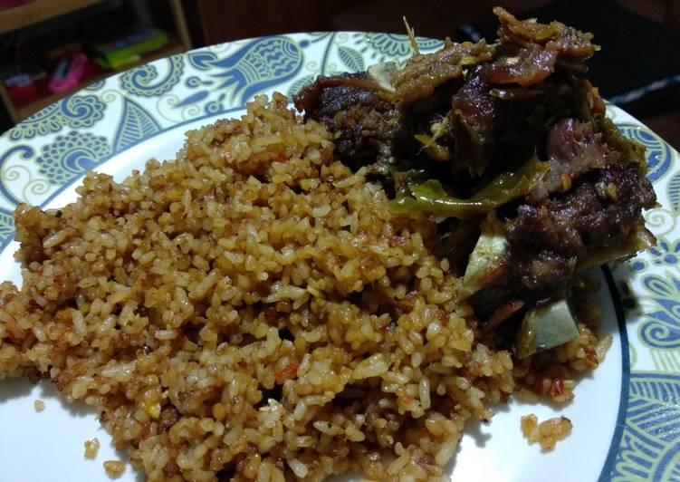 Nasi Goreng Roa + Iga Penyet sambal ijo #bikinRamadhanBerkesan